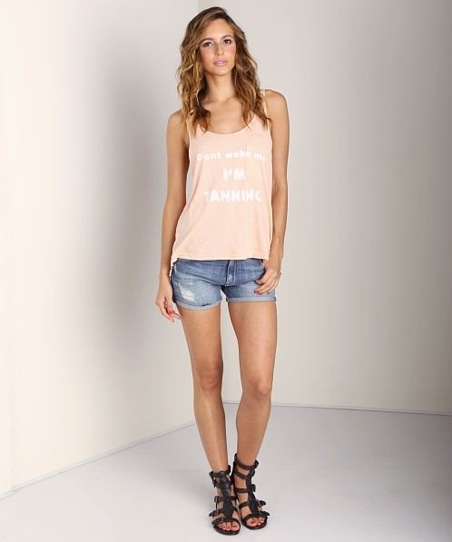 WILDFOX Grand Tank Dont Wake Me Up Coral Shell