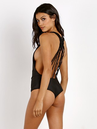 Bettinis Macrame One Piece Black