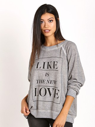 WILDFOX Like Button Kim's Sweater Heather Vanilla Latte