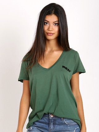 WILDFOX Wha? Skater V Tee Prom Queen Green