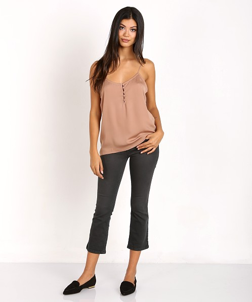 L'Academie The Button Cami Camel