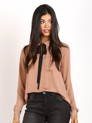 L'Academie The Classic Blouse Camel