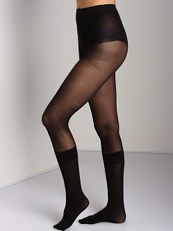 Pretty Polly Secret Sock Tights Black