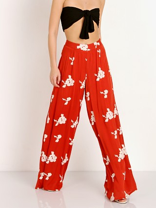 Sage the Label Hot in The Shade Pant Burnt Red
