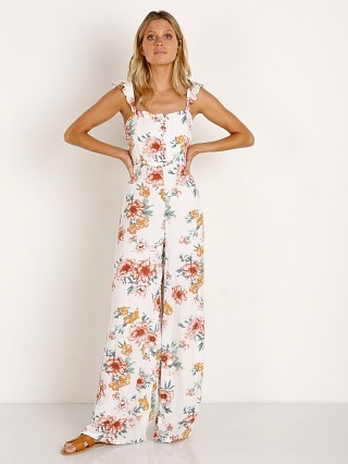 Model in white Sage the Label Gigi Jumpsuit