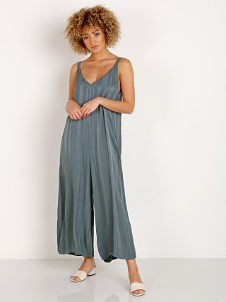 Model in sage LACAUSA Siena Jumpsuit