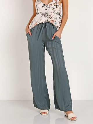 LACAUSA Striped Vela Pants Sage