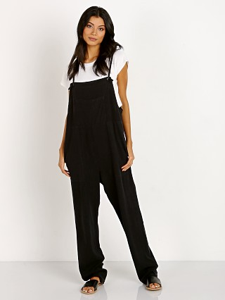 LACAUSA Raw Silk Overalls Tar