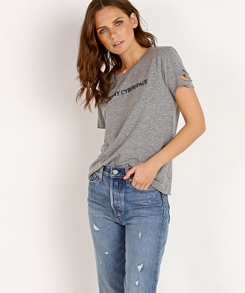 WILDFOX Cyberspace Stellar Crew Tee Heather