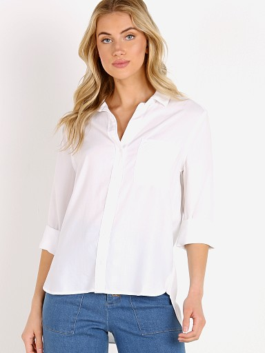 Bella Dahl Shirt Tail Button Down White