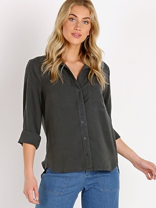 Bella Dahl Shirt Tail Button Down Smoke