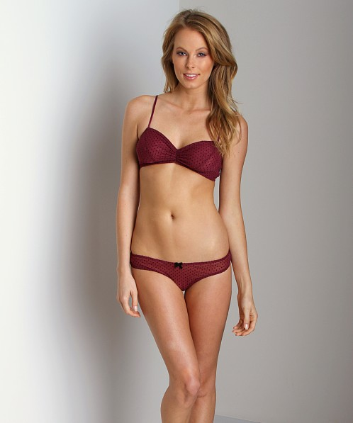 Eberjey Dotty Bralette Bordeaux