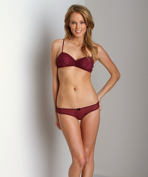 0dda52c973 Eberjey Dotty Thong Bordeaux A1148LR - Free Shipping at Largo Drive