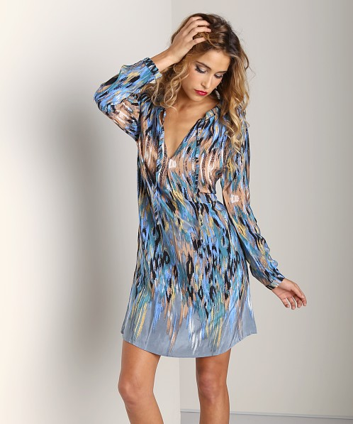 Tolani Hazel Tunic Dress Blue