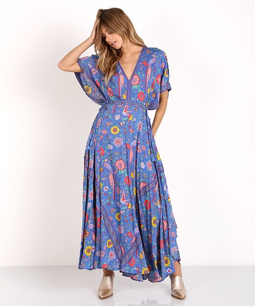35b02065e13b Spell & The Gypsy Lovebird Half Moon Gown Deep Sky 164111L41 - Free  Shipping at Largo Drive