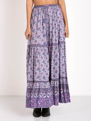 Spell Kombi Button Down Maxi Skirt Lavender