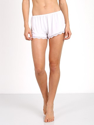 Only Hearts Feather Weight Lace Trim Shorts White