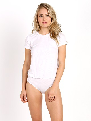 Only Hearts Feather Weight Tee Bodysuit White