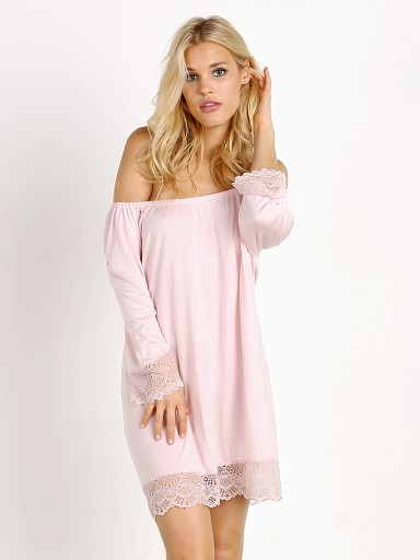 Model in petal pink Only Hearts Venice Night Dress