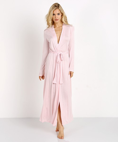 Only Hearts Venice Long Robe With Lace Petal Pink