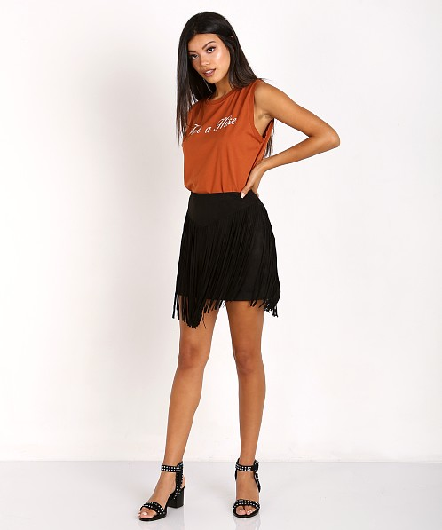 Mate the Label Abby Tank Take a Hike Burnt Orange