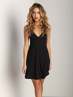 Only Hearts Venice Lace Back Slip Black
