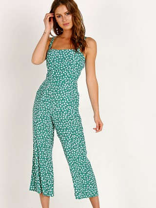 Faithfull the Brand Playa Jumpsuit Vintage Bloom Green
