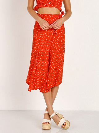 Faithfull the Brand Linnie Skirt Blue Bell Cherry
