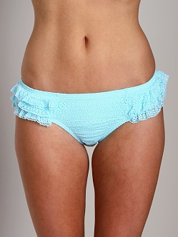 Juicy Couture Prima Donna Ruffle Flirt Bikini Bottom Pacific