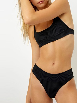 Complete the look: Frankie's Bikinis Gavin Ribbed Bikini Bottom Black
