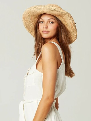 L Space Genie Straw Hat Natural