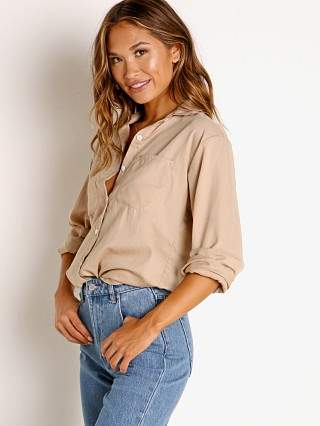 Model in taupe Stillwater The Favorite Shirt