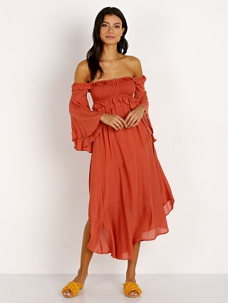 Spell & The Gypsy Florence Midi Dress Burnt Red