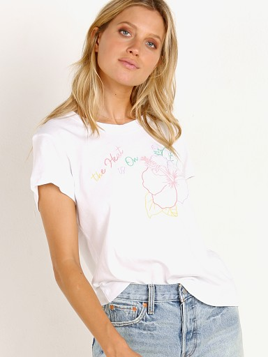 WILDFOX Heat No 9 Tee Clean White
