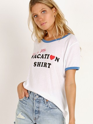 WILDFOX Vacation Johnny Ringer Tee Clean White