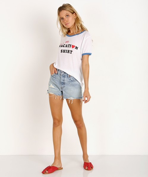 916ef6baff8 WILDFOX Vacation Johnny Ringer Tee Clean White WTJ18864Y - Free Shipping at  Largo Drive