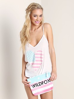 WILDFOX American Heart Cami/Clutch Clean White