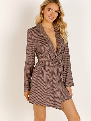 Only Hearts Lazy Mayzie Robe Brown Stripe