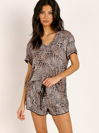 Bella Dahl Short Sleep PJ Set Golden Leopard