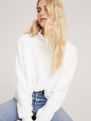 Bella Dahl Mock Neck Sweater Winter White