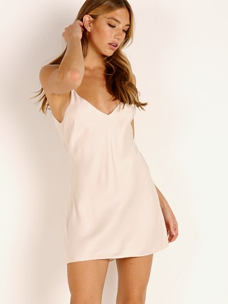 Indah Sevens Solid Bias Mini Dress Opal