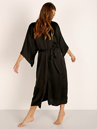 Indah Luna Solid Robe Black