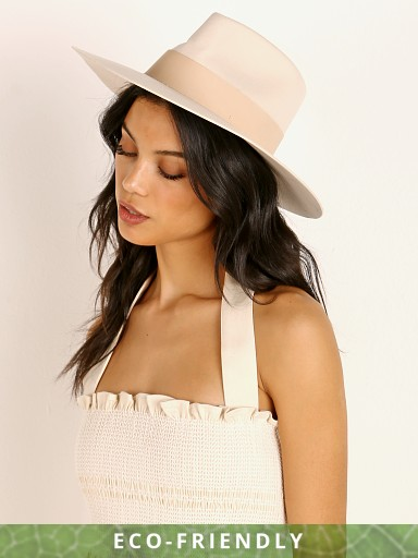 Janessa Leone Carter Hat Off White