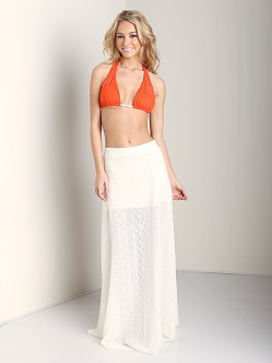 L Space Swept Away Crochet Skirt Ivory