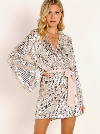 Show Me Your Mumu Giselle Kimono Dress Platinum Sequins
