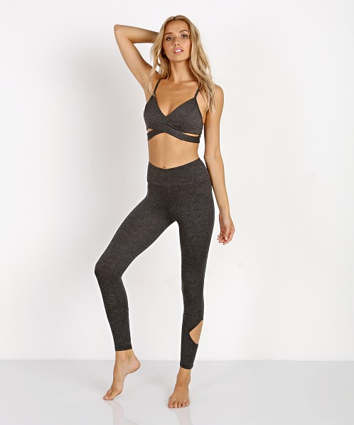 Lanston Sport Larson Wrap Bra Heather Grey
