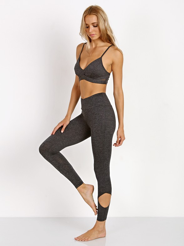 Lanston Sport Anson Cutout Legging Heather Grey