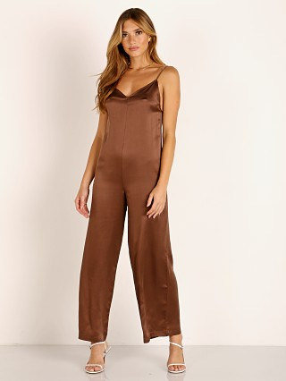 Model in mink Capulet Liz Jumpsuit