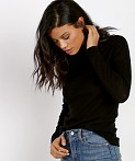 M.A.P Distressed Turtleneck Jet Black, view 3