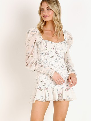 For Love & Lemons Dixon Mini Dress Ivory Floral